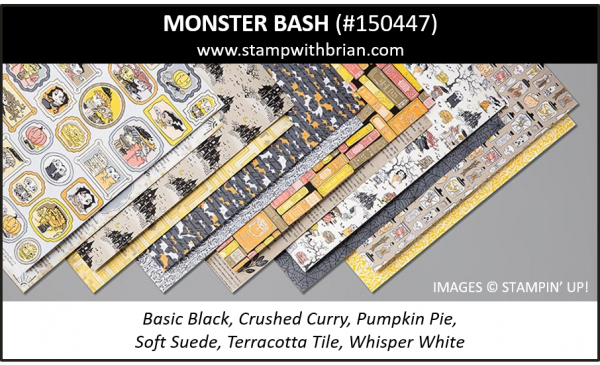 Monster Bash Designer Series Paper, Stampin' Up! 2019 Holiday Catalog, 150447