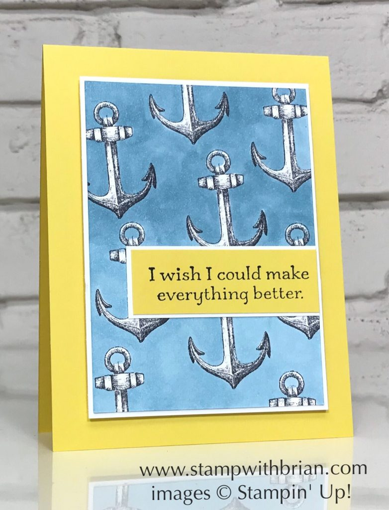 Sailing Home, Sorry for Everything, Stampin' Up!, Thinking of You card