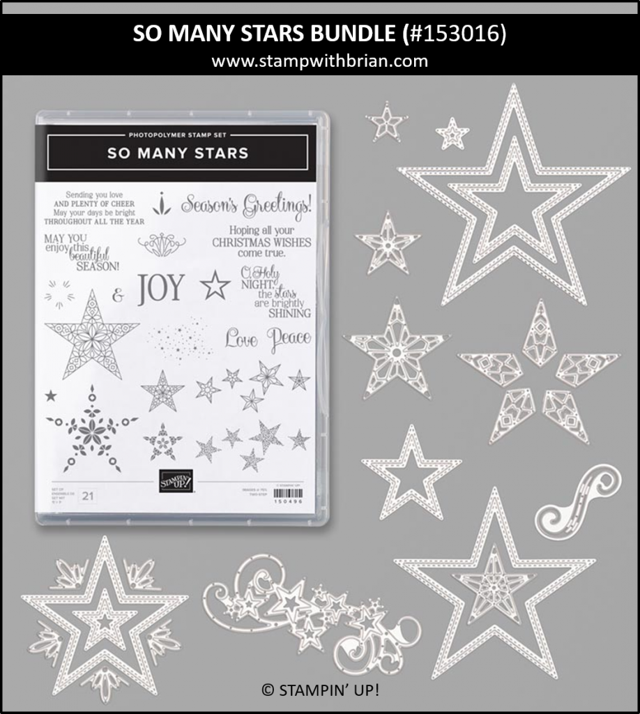So Many Stars Bundle, Stampin' Up!, Brian King