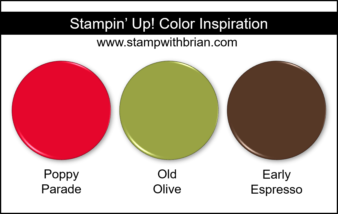 Stampin' Up! Color Inspiration - Poppy Parade, Old Olive, Early Espresso