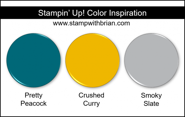 Stampin' Up! Color Inspiration - Pretty Peacock, Crushed Curry, Smoky Slate