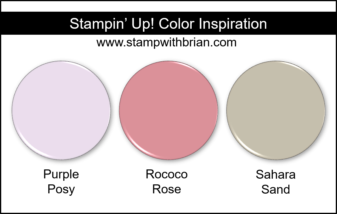 Stampin' Up! Color Inspiration - Purple Posy, Rococo Rose, Sahara Sand