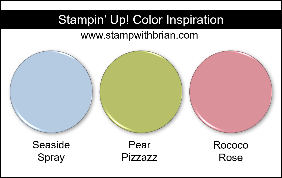 Stampin' Up! Color Inspiration - Seaside Spray, Pear Pizzazz, Rococo Rose