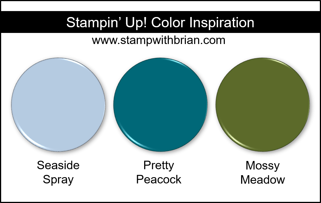 Stampin' Up! Color Inspiration - Seaside Spray, Pretty Peacock, Mossy Meadow
