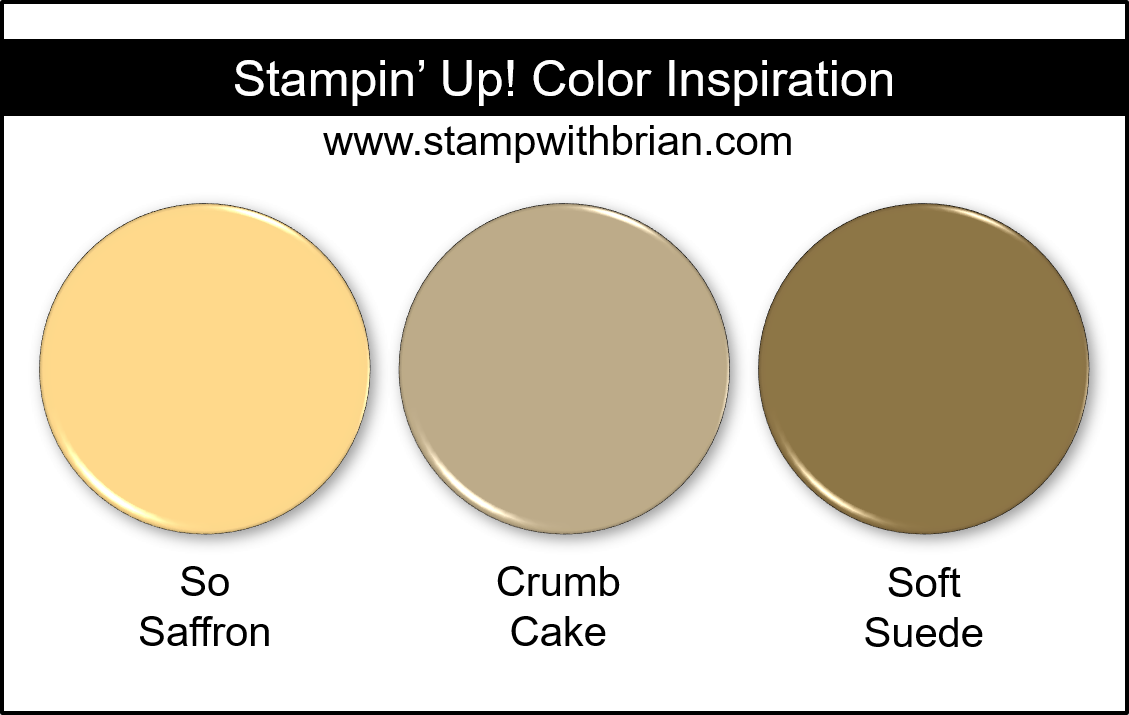 Stampin' Up! Color Inspiration - So Saffron, Crumb Cake, Soft Suede