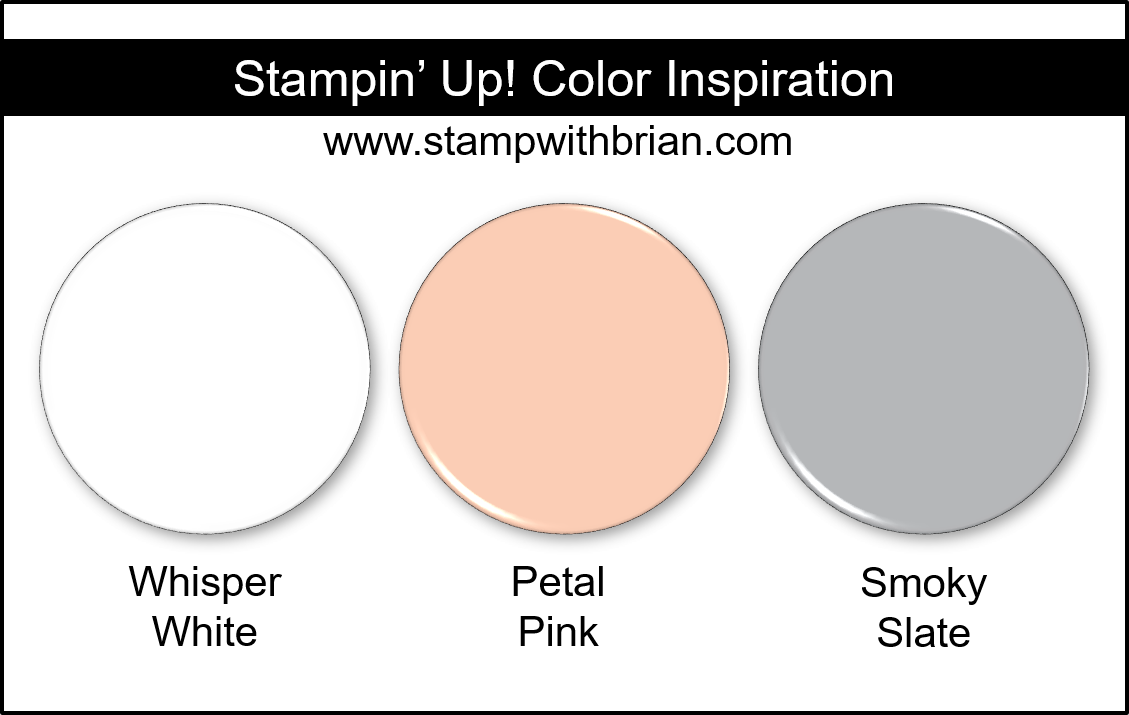 Stampin' Up! Color Inspiration - Whisper White, Petal Pink, Smoky Slate