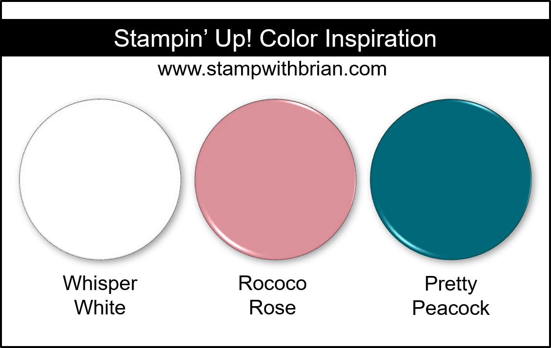 Stampin' Up! Color Inspiration - Whisper White, Rococo Rose, Pretty Peacock