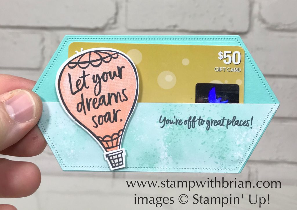 Stitched Nested Labels Dies, Above the Clouds Bundle, Stampin' Up!, Brian King, pocket for gift card or business card