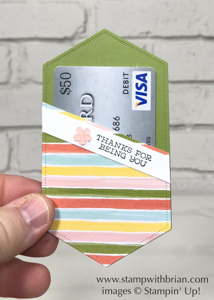 Stitched Nested Labels Dies, Free as a Bird, Stampin' Up!, Brian King, pocket for gift card or business card