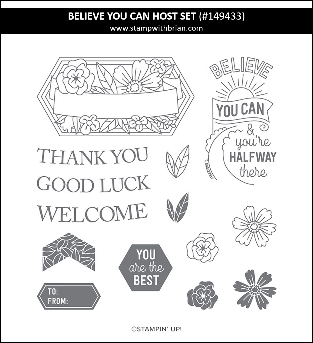 Believe You Can Host Set, Stampin' Up!, 149433