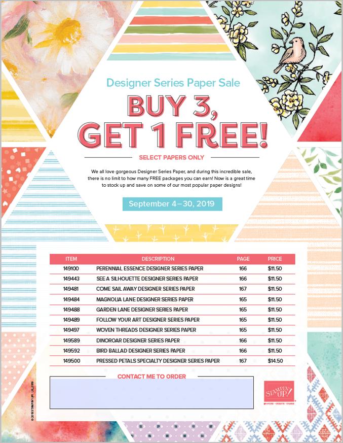 Designer Series Paper Promotion