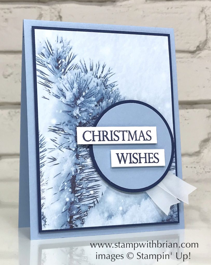 Merry Christmas to All, Feels Like Frost Specialty Designer Series Paper, Stampin' Up!, Brian King