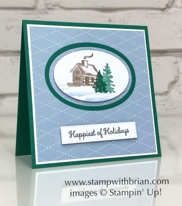 Snow Front, Merry Moose, Stampin' Up!, Brian King, Christmas Card