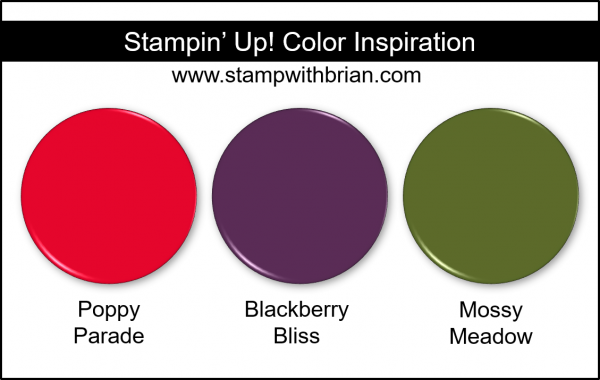 Stampin' Up! Color Inspiration - Poppy Parade, Blackberry Bliss, Mossy Meadow