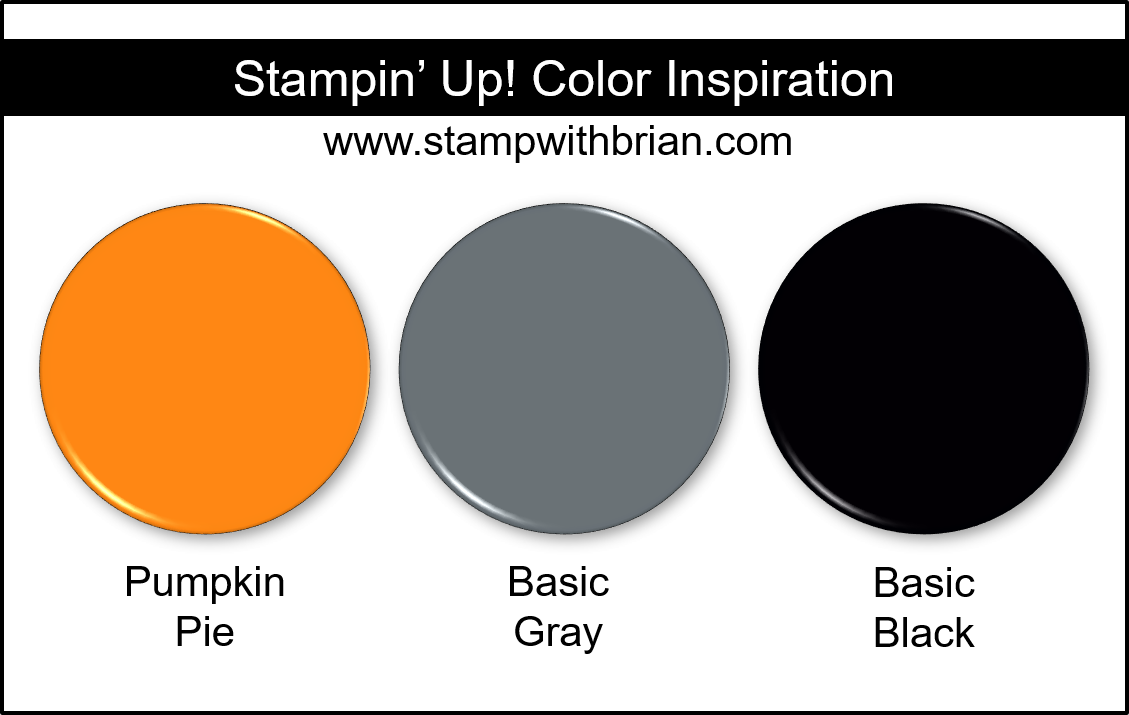 Stampin' Up! Color Inspiration - Pumpkin Pie, Basic Gray, Basic Black