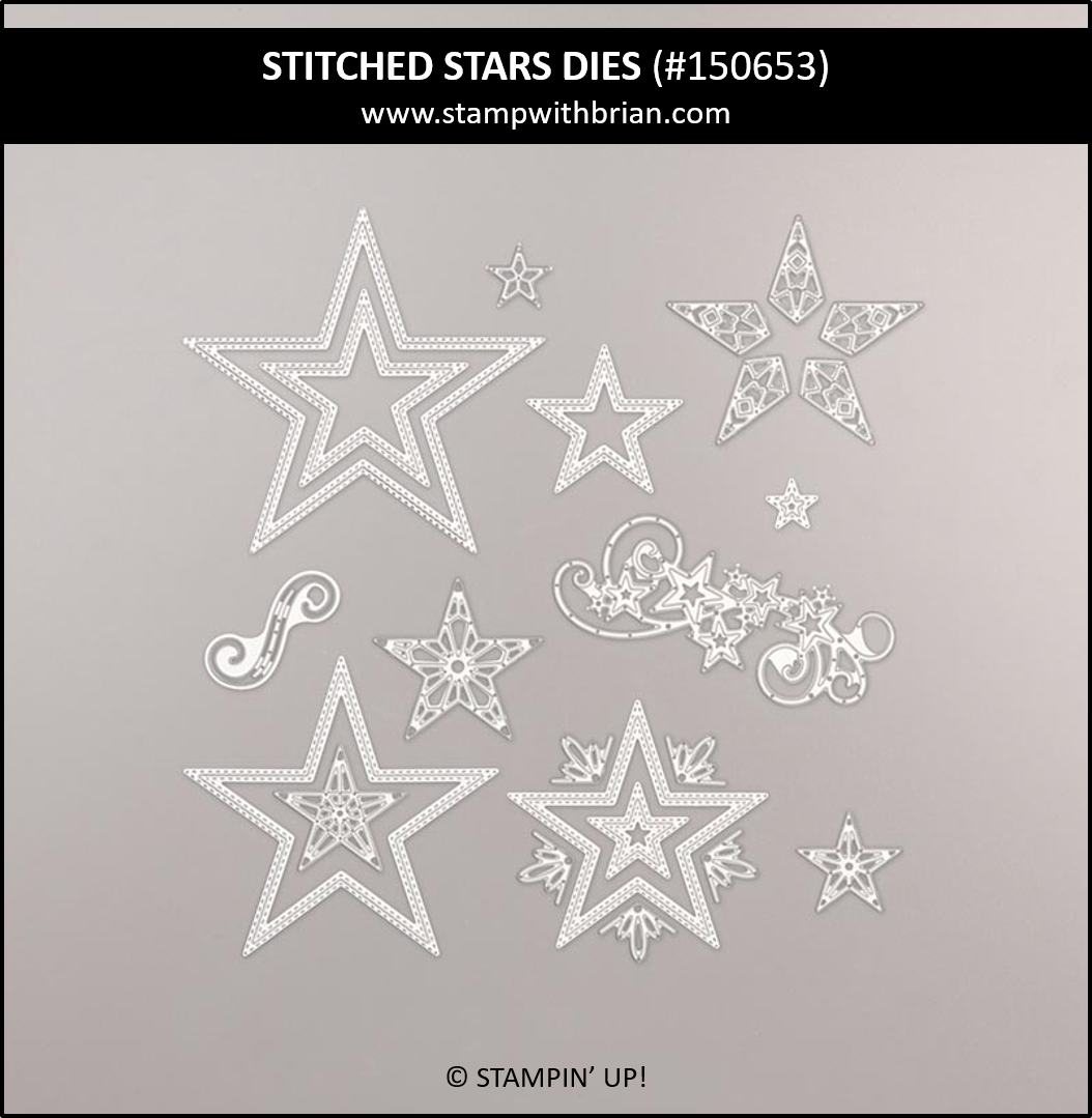 Stitched Stars Dies, Stampin' Up! 150653