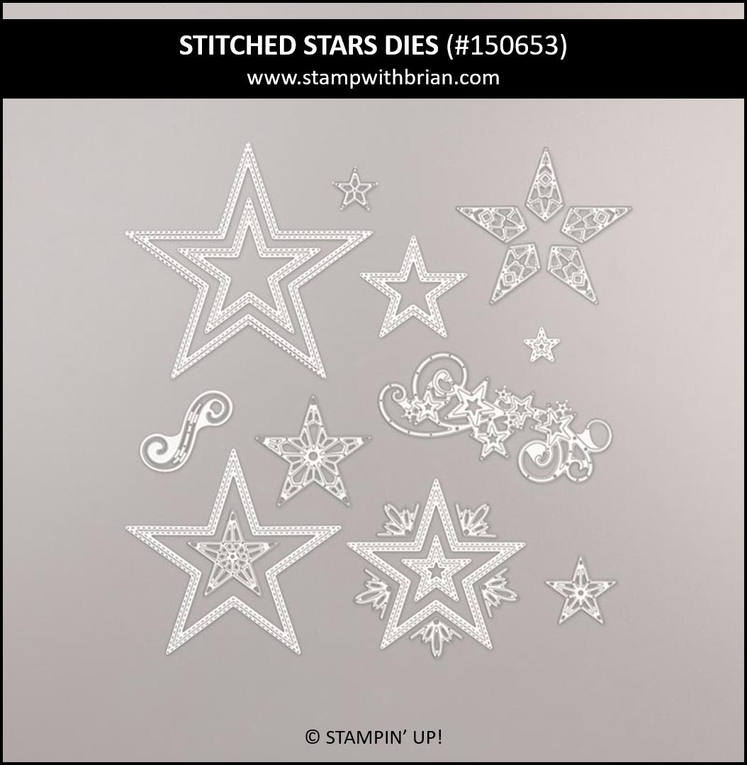 Stitched Stars Dies, Stampin' Up! 150653