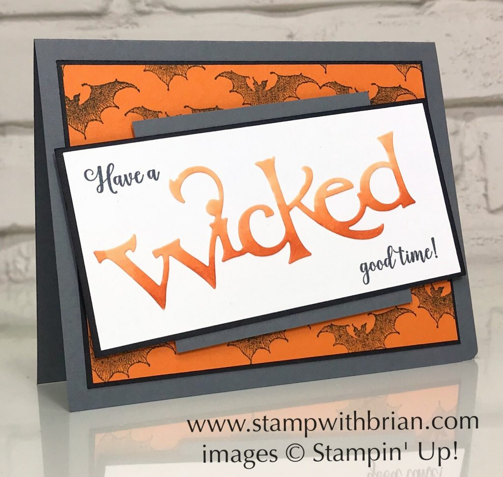 Wonderfully Wicked, Stampin' Up!, Brian King, Halloween card
