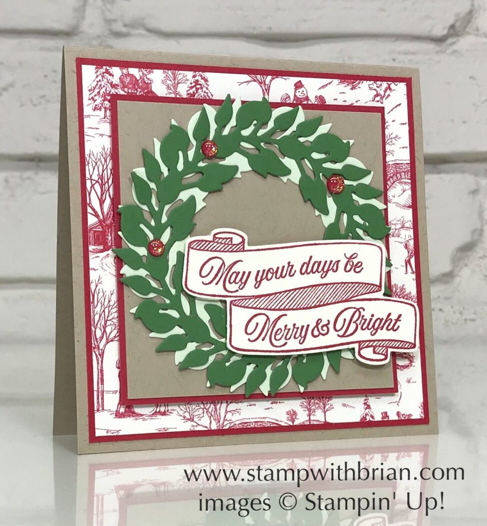All-Around Wreath Bundle, Toile Christmas Bundle, Stampin' Up!, Brian King