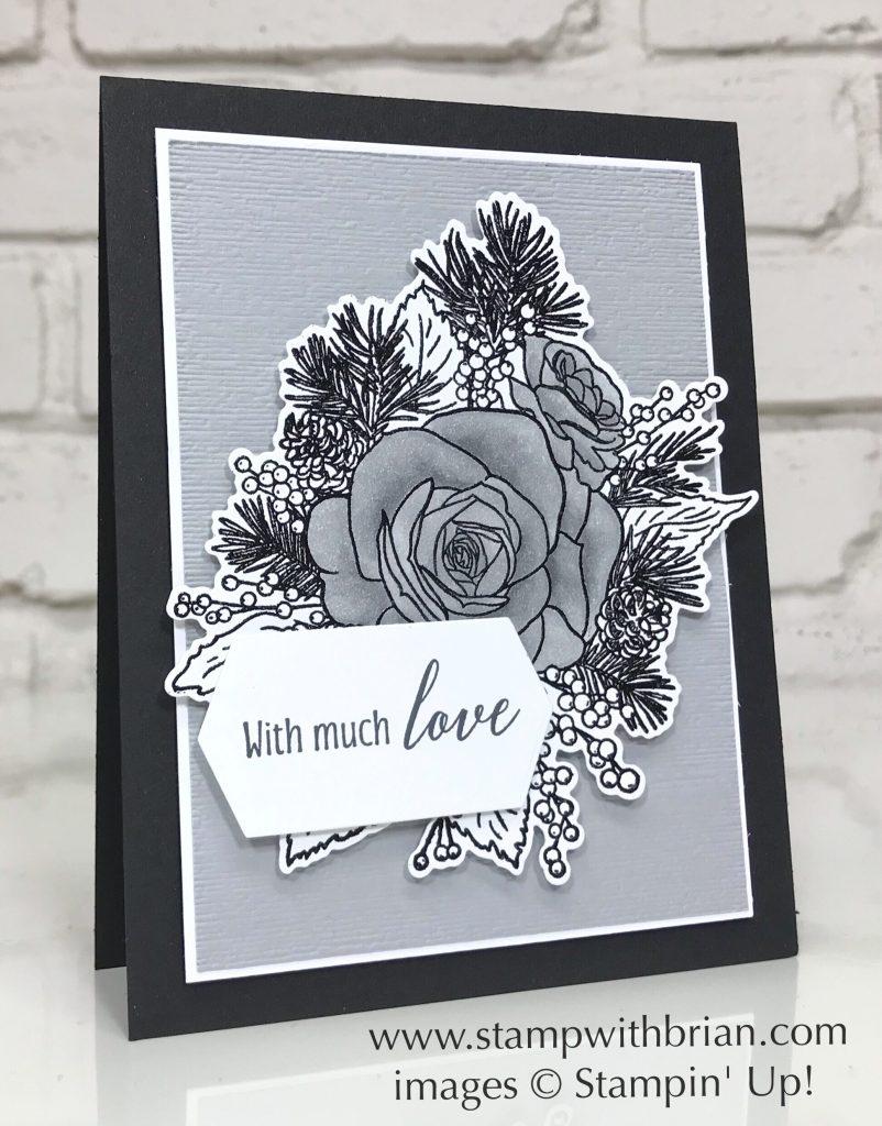Christmas Rose Bundle, Tropical Chic, Stampin' Up!, Brian King, Wedding Card