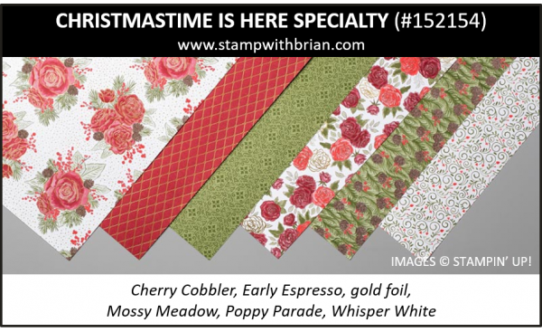 Christmastime is Here Specialty Designer Series Paper, Stampin' Up! 152154