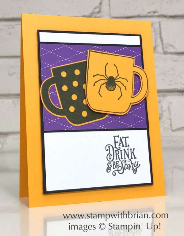 Cup of Christmas Bundle, Spooktacular Bash, Stampin' Up!, Brian King, Halloween card