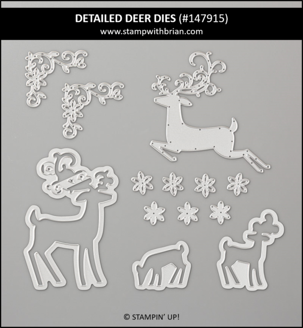 Detailed Deer Dies, Stampin' Up! 147915