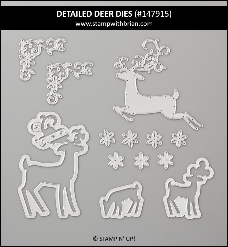 Detailed Deer Dies, Stampin' Up! 147915