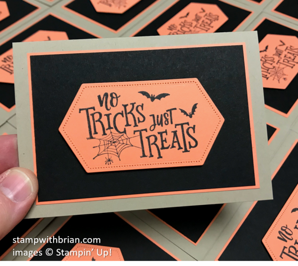 Festive Everything, Stitched Nested Labels Dies, Stampin' Up!, Brian King, Halloween Card