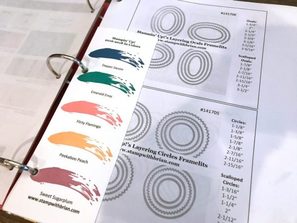 Selina's Organized Stamping Inventory Book