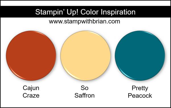 Stampin' Up! Color Inspiration - Cajun Craze, So Saffron, Pretty Peacock