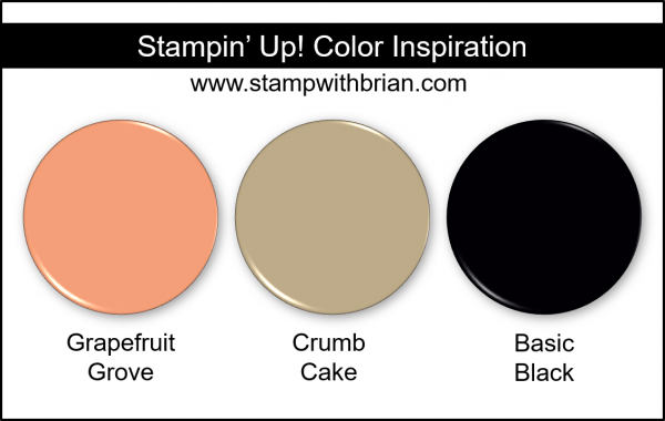 Stampin' Up! Color Inspiration - Grapefruit Grove, Crumb Cake, Basic Black