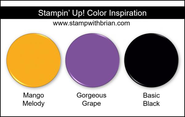 Stampin' Up! Color Inspiration - Mango Melody, Gorgeous Grape, Basic Black