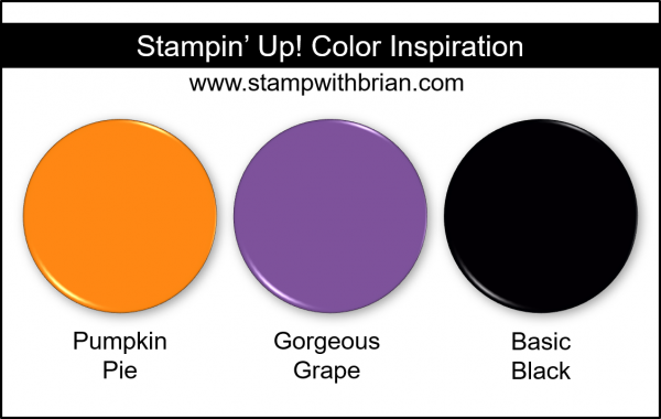 Stampin' Up! Color Inspiration - Pumpkin Pie, Gorgeous Grape, Basic Black