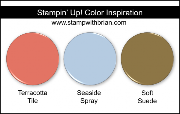 Stampin' Up! Color Inspiration - Terracotta Tile, Seaside Spray, Soft Suede