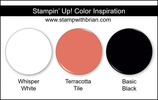 Stampin' Up! Color Inspiration - Whisper White, Terracotta Tile, Basic Black