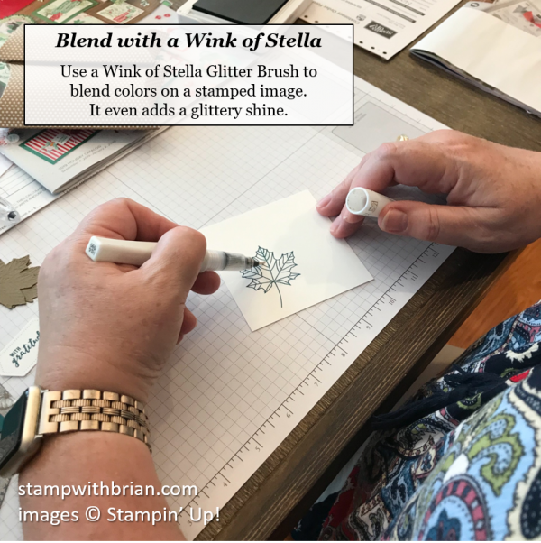 Use Wink of Stella to blend colors on a stamped image, Stampin' Up!, Brian King