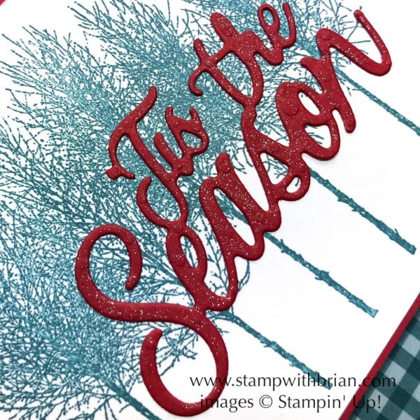 Winter Woods, Stampin' Up!, Brian King, Christmas Card