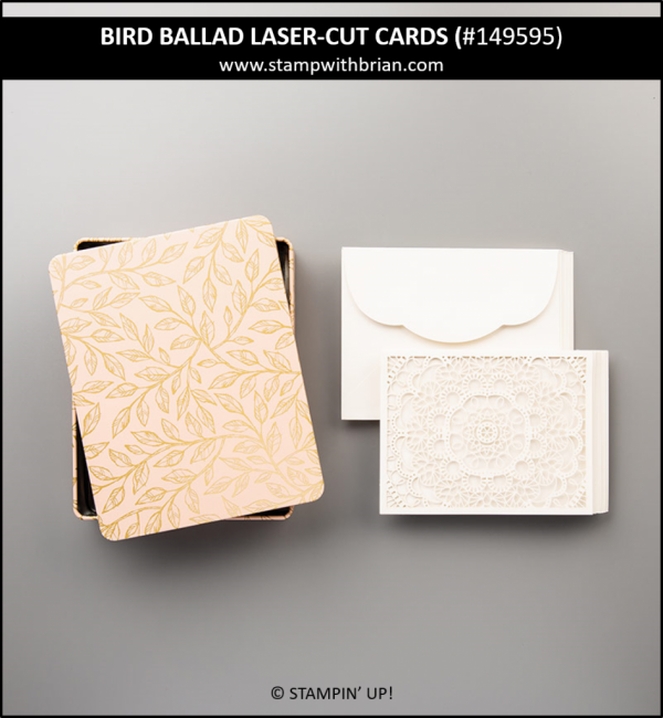 Bird Ballad Laser-Cut Cards, Stampin' Up! 149595