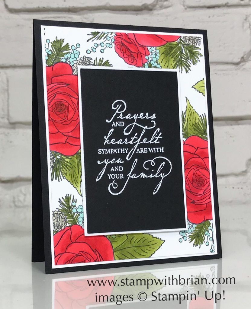 Christmas Rose, Woven Heirlooms, Stampin' Up!, sympathy card