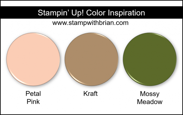 Stampin' Up! Color Inspiration: Petal Pink, Kraft, Mossy Meadow