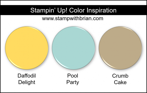 Stampin' Up! Color Inspiration - Daffodil Delight, Pool Party, Crumb Cake