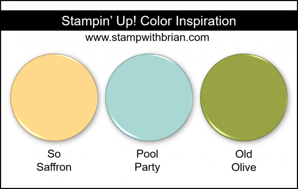 Stampin' Up! Color Inspiration - So Saffron, Pool Party, Old Olive