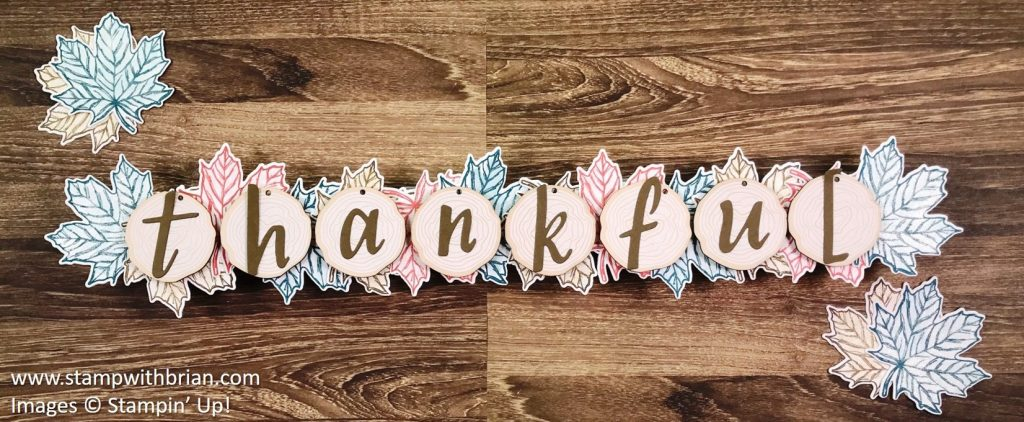 Thanksgiving banner, Stampin' Up!, Brian King