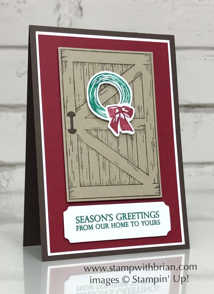 Barn Door, Merry Christmas to All, Stampin' Up!, Brian King