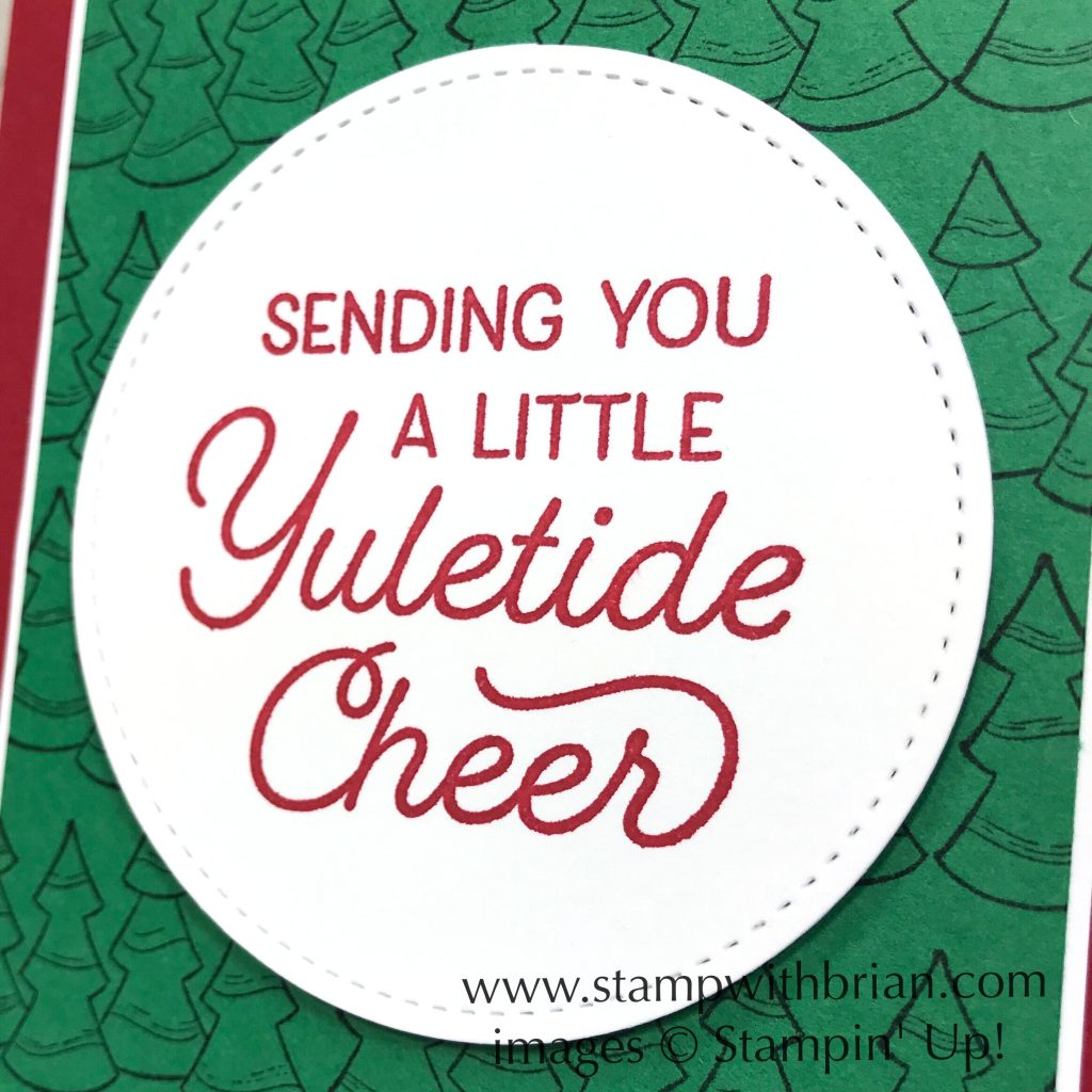 Holly Jolly Christmas, Frosted Foliage, Stampin' Up!, Brian King