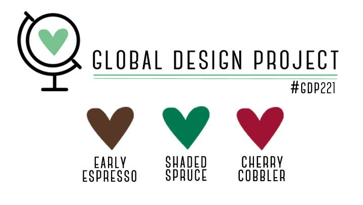Stampin' Up! Color Inspiration - Early Espresso, Shaded Spruce, Cherry Cobbler