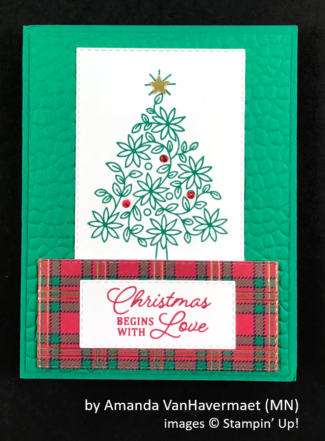 by Amanda Van Havermaet, Brian's Holiday One-for-One Swap, Stampin' Up!