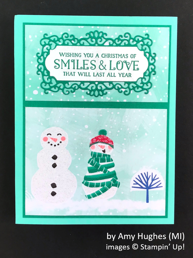 by Amy Hughes, Brian's Holiday One-for-One Swap, Stampin' Up!
