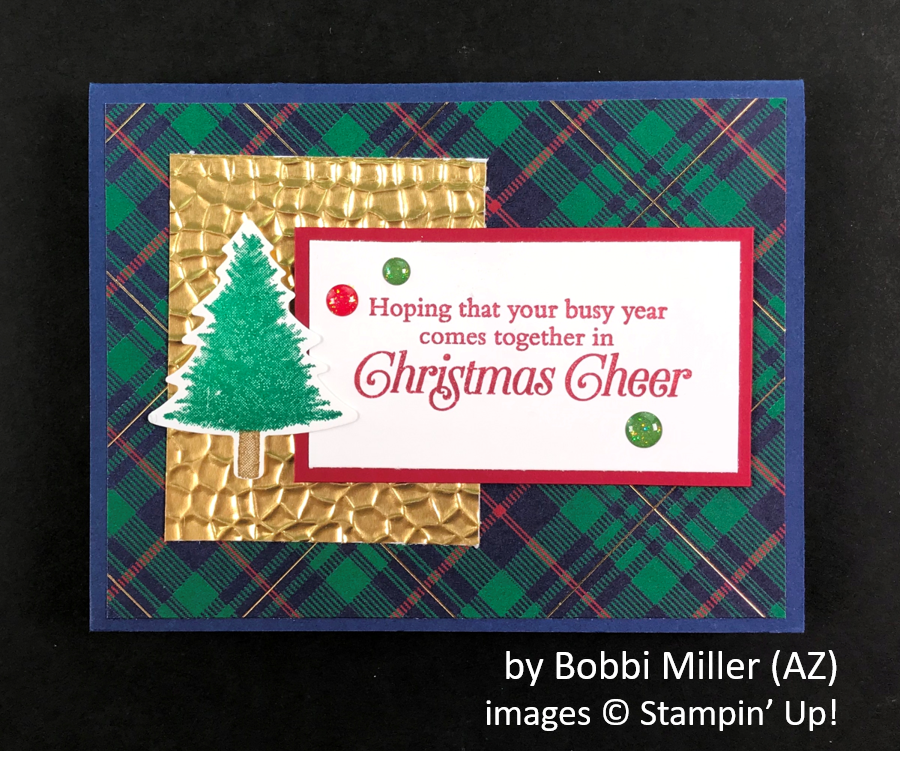 by Bobbi Miller, Brian's Holiday One-for-One Swap, Stampin' Up!